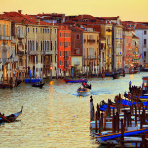 Venice,Italy-Sunset-GreatCanal